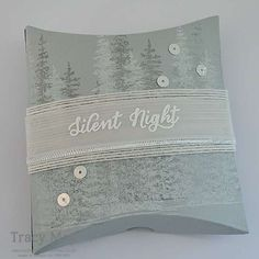 Stampin' Up! Wonderland Square Pillow Box Tracy May Clean and Simple Christmas gift packaging