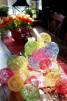trådpyssel_påskpyssla_trådägg Crafts To Make, Fun Crafts, Crafts For Kids, String Crafts, Classroom Crafts, Egg Art, Nature Crafts, Craft Sale, Valentines Diy