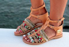 "Gladiator Sandals ""Lydia"", Handmade Leather Sandals, Greek Sandals"