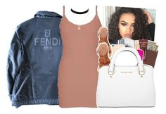"""""""Fendi"""" by theylovinniaaa ❤ liked on Polyvore featuring Royce Leather, Victoria's Secret, MAC Cosmetics, Fendi, BKE core, H&M and Michael Kors"""