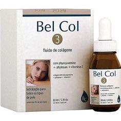 Bel Col 3 Bel Col 3 El colágeno es un fluido que lucha contra los signos del envejecimiento y promueve mejora la firmeza de la piel,nos proporciona elasticidad e hidratación de la piel.  El uso continuo suaviza las líneas de expresión, mejorar la textura y suavidad. Indicado para la prevención del envejecimiento cutáneo.