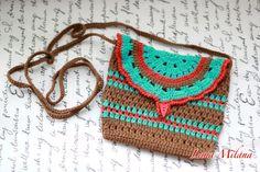 The stylish shoulder bag Little multicolored handbag by LanaMilana