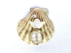 Schutzengel Perlen Anhänger Modeschmuck von JewelsbyLonasART