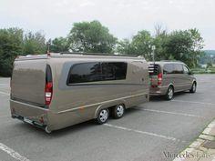 Luxurious Vw Extended Camper Ideas To Look Asap 45 Cargo Trailer Camper, Bus Camper, Camper Caravan, Car Trailer, Utility Trailer, Mercedes Benz Vans, Smart Roadster, Vintage Camper, Vintage Trailers