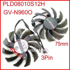 Free Shipping PLD08010S12H 12V 0.25A 75mm 40*40*40mm For Gigabyte GV-N960O Graphics Card Cooling Fan 3Pin