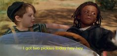 My kids loved this movie and they would always have to get 2 pickles from the fridge to eat when this part came on.