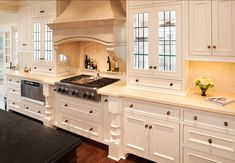 "Similar Kitchen Cabinet Paint: ""Timid White  OC-39 by Benjamin Moore""."