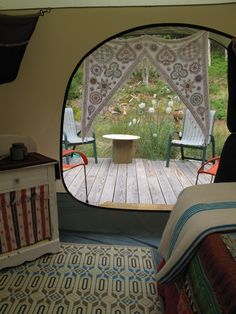 LL Bean goes Nomad. I like this idea, but maybe not with such a normal modern looking tent...