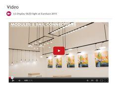 LG Display OLED light at Euroluce 2015