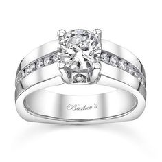 Barkev's Designer 14k White Gold 1 1/5ct TDW Diamond Engagement Ring (F-G, SI1-SI2) (Size 8.50), Women's, Size: 8.5