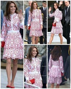 The Duke and Duchess of Cambridge have arrived in Vancouver, Canada! ! Kate is wearing a dress by Alexander McQueen.  25 September 2016