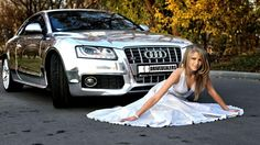 Audi A5 And Supermodel Girl Wallpapers Download
