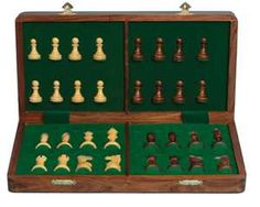 luxury folding chess set