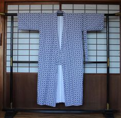 Men's Yukata, Japanese Vintage Cotton Yukata, Japanese Robe, Old Stock, Men's…