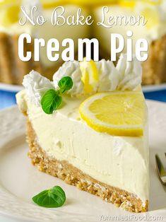 No Bake Lemon Cream Pie - Recipe from Yummiest Food Cookbook