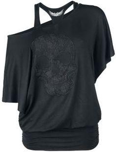 Lace Skull - T-Shirt von Rock Rebel by EMP
