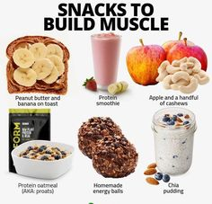 Do you snack throughout the day?While there is some sort of hate towards snacking, I think snacking Food To Gain Muscle, Muscle Food, Build Muscle Fast, Muscle Building Foods, Muscle Men, Healthy Weight Gain, Weight Loss Snacks, Lose Weight, Yummy Snacks
