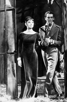 """Audrey Hepburn and Henry Fonda in director King Vidor's version of """"War and Peace"""". It was widely reported after its release in the USSR that the Russians were underwhelmed by this version, but adored Audrey Hepburn as Natasha. Golden Age Of Hollywood, Vintage Hollywood, Hollywood Stars, Classic Hollywood, British Actresses, Actors & Actresses, British Celebrities, Audrey Hepburn Born, Old Movie Stars"""