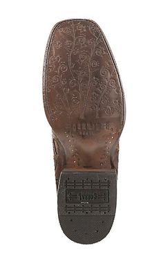 853daf874 Corral Boot Company Women s Brown with Tan Inlay and Studded Details  Western Square Toe Boots