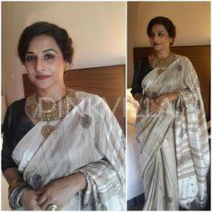 Yay or Nay : Vidya Balan's traditional look in a Assam Silk Saree