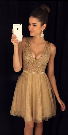 sparkly homecoming dress, gold homecoming dress, 2017 homecoming dress, short homecoming dress, sequins homecoming dress