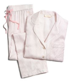 The Tory Burch Flora PJ set — a feminine take on the menswear classic