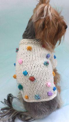 white sweater dog winter/ dog sweater/clothes от LyudmilaHandmade