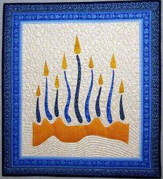 Light the darkness quilted menorah wall hanging. Diy Hanukkah, Hanukkah Cards, Hanukkah Decorations, Hanukkah Menorah, Hannukah, Christmas Hanukkah, Jewish Crafts, Jewish Art, Quilted Table Runners