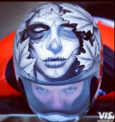 Custom motorcycle Helmet - face