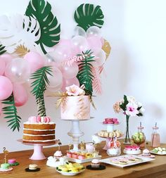 27 Ideas for birthday party flamingo dessert tables Idee Baby Shower, Flamingo Baby Shower, Flamingo Birthday, Pink Flamingo Party, Aloha Party, Party Fun, Cake Party, 90s Party, Party Summer