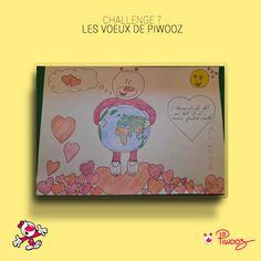 Les voeux de Piwooz #Piwooz #challenge #Dessin #amour #2021 #coloriage #couleur #citation Challenges, Coloring Pages, Love, Quote, Color, Drawing Drawing
