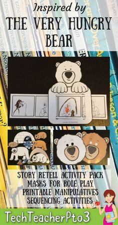 The Very Hungry Bear by Nick Bland Story Retell Activities Story Retell, Story Sequencing, Sequencing Activities, Fun Activities, Primary School Curriculum, Primary School Teacher, Kindergarten Reading, Preschool Kindergarten, The Very Cranky Bear
