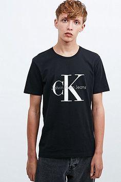 Calvin Klein Jeans Re-Issue Tee in Black Meteorite - Urban Outfitters