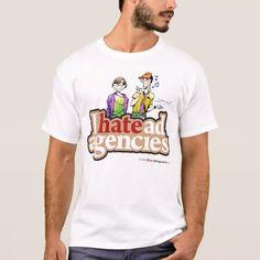 I Hate Ad Agencies Team Logo Tee