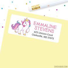 Unicorn Address Labels - Sheet of 30
