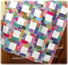 quilt patterns using large squares - Google Search