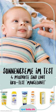 Sunscreen for babies in the test - Ratgeber Baby & Kind - Schwanger Baby Tips, Baby Care Tips, Baby Ideas, Baby Co, Mom And Baby, Baby Baby, Bebe Video, Bebe Car, Toddler Bedtime