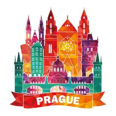 Find Prague Skyline Vector Illustration stock images in HD and millions of other royalty-free stock photos, illustrations and vectors in the Shutterstock collection. Thousands of new, high-quality pictures added every day. Travel Crafts, Architecture Graphics, City Illustration, World Cities, En Stock, Free Vector Art, Travel Posters, Travel Pictures, Vintage Posters