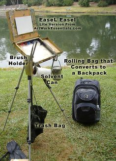 nice plein air set-up for oil painting