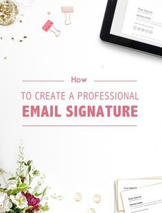 how to create html email signature