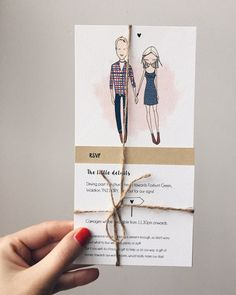 Quirky wedding invitations personalised by Blankaillustration