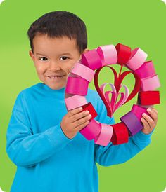 Where's my teacher friends at? Valentine's Day Door Wreath. Kid friendly!
