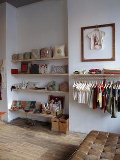 A visit to Bookhou shop display children's clothing floating shelves kids room...
