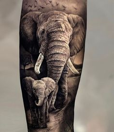 If you are searching for a special tattoo involving animals, then strive elephants on for size. Everyone Loves Elephant Tattoos Realistic Elephant Tattoo, Elephant Family Tattoo, Elephant Tattoo Meaning, Elephant Tattoo Design, Elephant Tattoos, Dad Tattoos, Tattoos For Guys, Cool Tattoos, Quote Tattoos