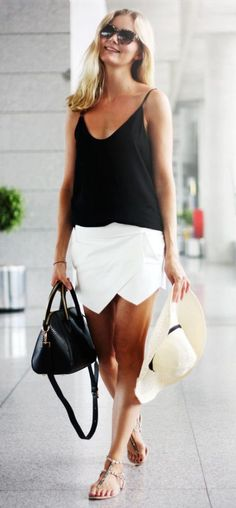 #summer #fashion / black and white