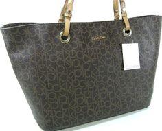Calvin Klein Monogram Tote Bag Handbag Purse « Xquisite Beauty