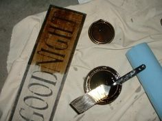 Excellent step by step instructions on how to make primitive signs and distress them.