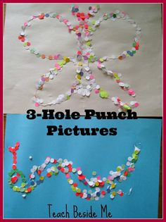 Hole Punch Art Pictures featured at Little Wonders' Days