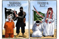 Read the Powerful Saudi Arabia Article Censored by Al-Jazeera Michael Krieger Caricatures, Al Jazeera, World Problems, Open Letter, Foreign Policy, Political Cartoons, Satirical Cartoons, Saudi Arabia, Embedded Image Permalink