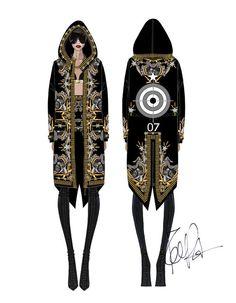 Croquis Givenchy Haute Couture de Riccardo Tisci http://www.vogue.fr/mode/news-mode/diaporama/riccardo-tisci-signe-les-costumes-de-scene-de-rihanna/12435